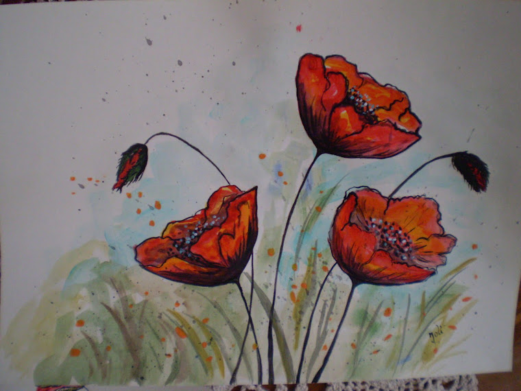 Poppies PA9, watercolor, signed Joli, A4