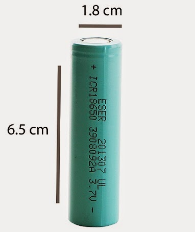 Baterai Cell Eser 2600mAh 18650