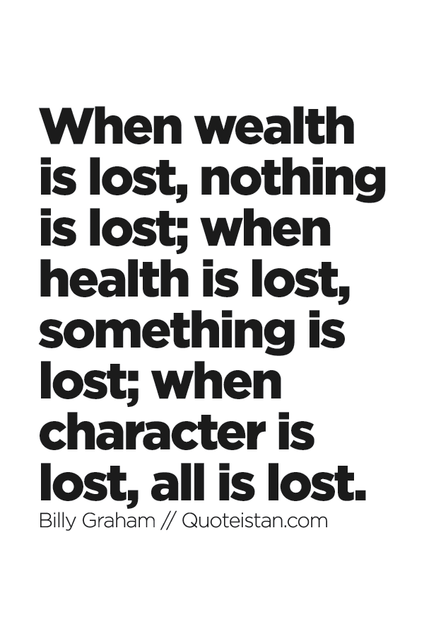 if character is lost everything is lost What book in the bible tells all about a man who lost everything but still worshiped god.