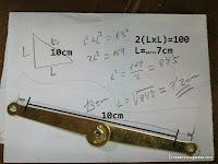 Calcular la posición de la bisagra compás. www.enredandonogaraxe.com