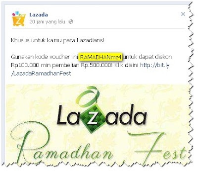 voucher diskon Ramadhan LAZADA