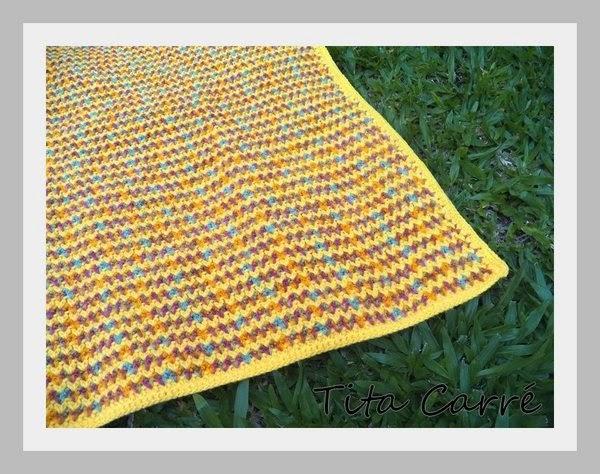 Colcha em Crochet E era tudo amarelo com ColdPlay