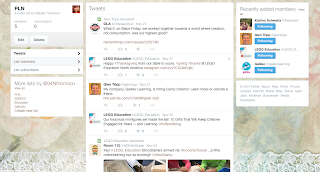 Screenshot of my Twitter page 'PLN'