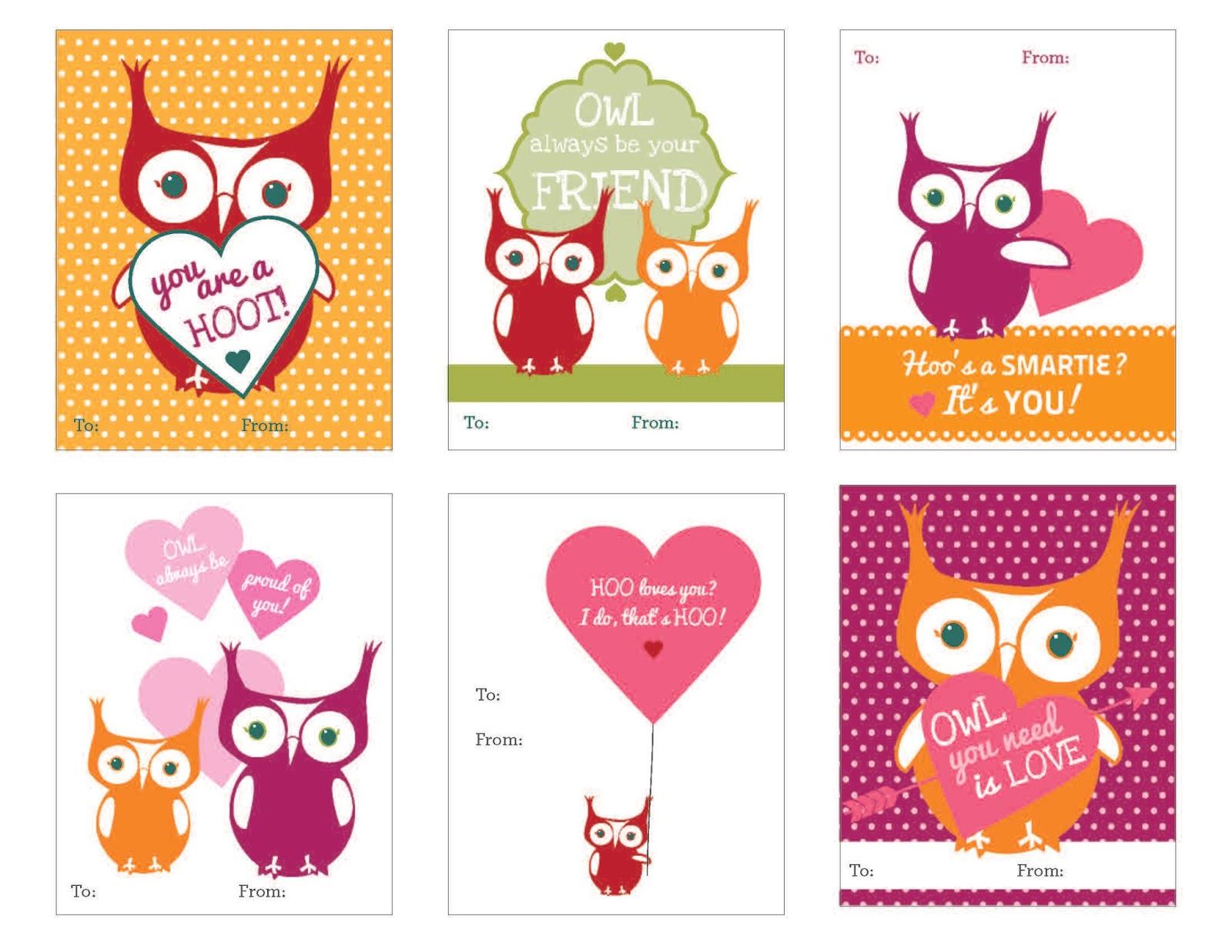 Techie Turtle Teacher Freebie Friday  Owl Themed Valentine Cards
