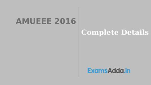 AMUEEE 2016 - Exams Adda