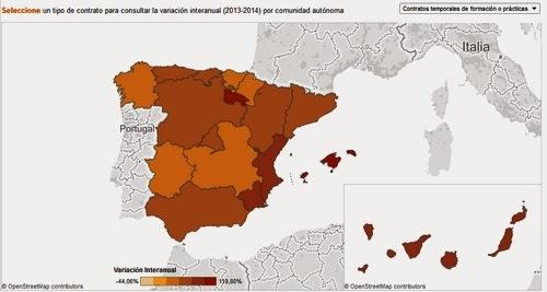 http://www.elconfidencial.com/alma-corazon-vida/2014-08-05/el-mapa-de-la-precariedad-juvenil-en-espana-contratos-de-practicas-y-temporales_172129/