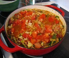... and Juli cook: Adventures in Iowa: Southwestern Cabbage Jambalaya