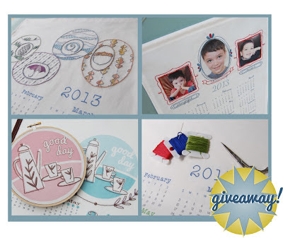 embroidery giveaway calendar at SeptemberHouse