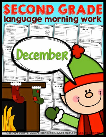 Second Grade Language Morning Work: December