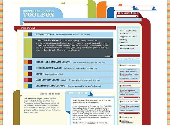 8 Website Terkenal yang Bisa Membuat Kamu Bahagia: The Happiness Project Toolbox