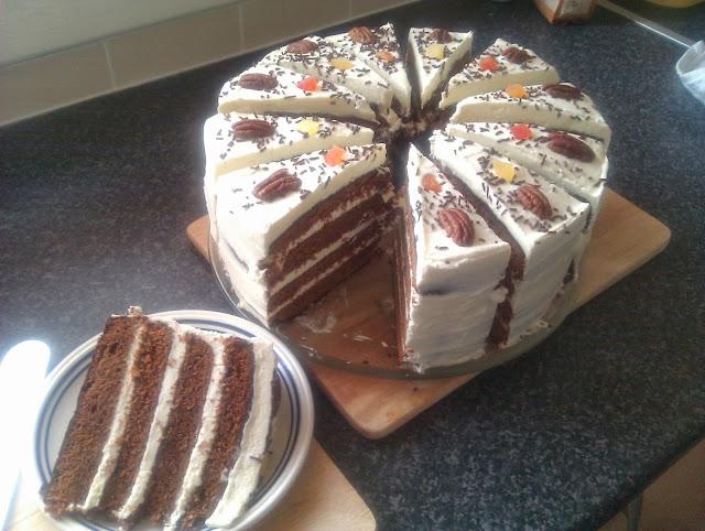 White Chocolate Dark Layered cake