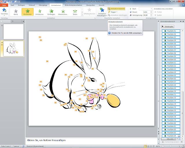 PowerPoint 2010 - Animationsbereich öffnen