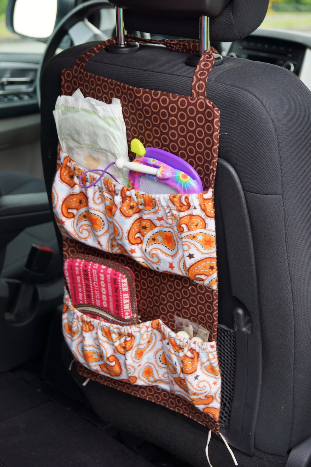 Car seat organiser diy