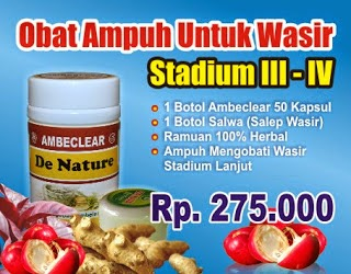 obat herbal ambeclear de nature