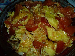 Chinese fried Eggs with Tomatoes