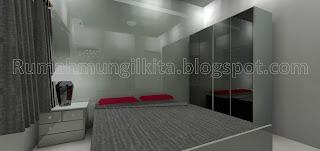 kamar tidur abu-abu