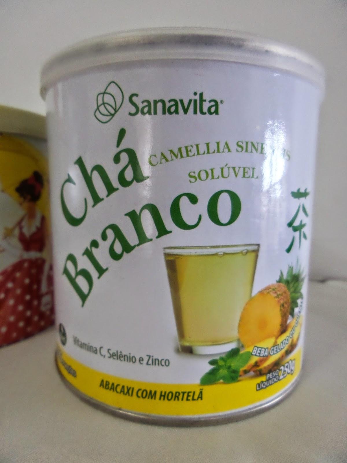 Chá branco  solúvel Sanavita