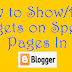 How To Show/Hide Widgets On Specific Pages In Blogger