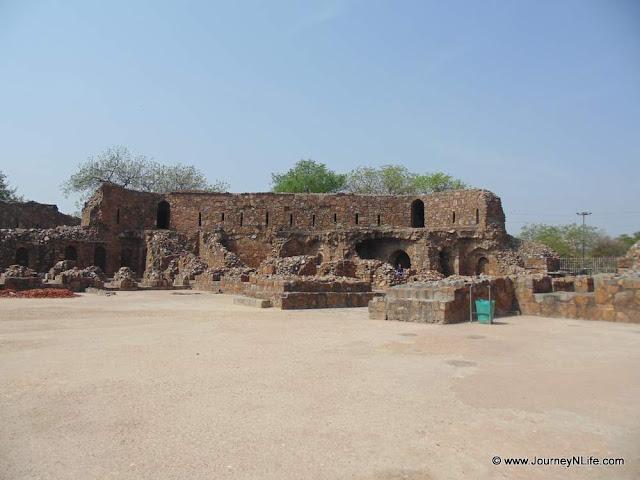 Feroz Shah Kotla Fort in Delhi, India