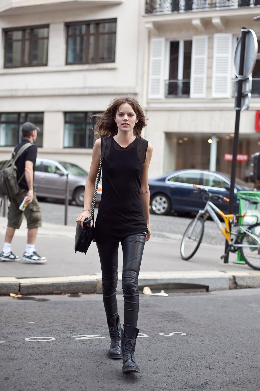 Freja Beha Erichsen street style at Chanel haute couture autumn/winter 2011