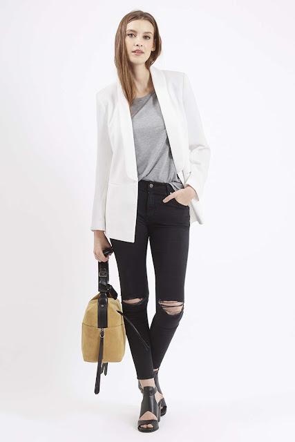white tuxedo blazer, topshop tuxedo jacket,