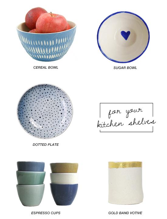 Shop handmade ceramics for your kitchen shelves #kitchenware #etsy