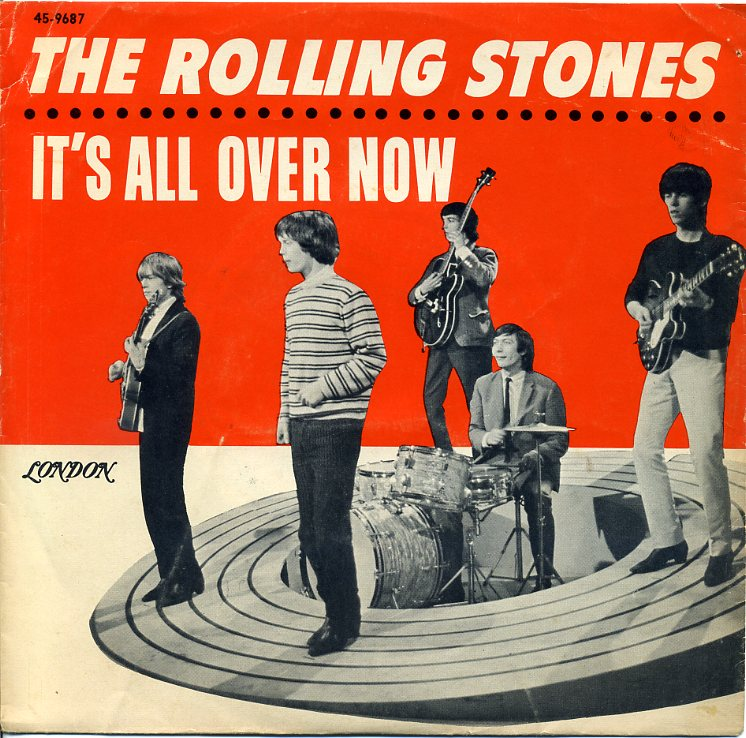 Copertina di quot it s all over now quot singolo dei rolling stones estratto
