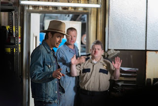 Timothy Olyphant and Patton Oswalt in Justified