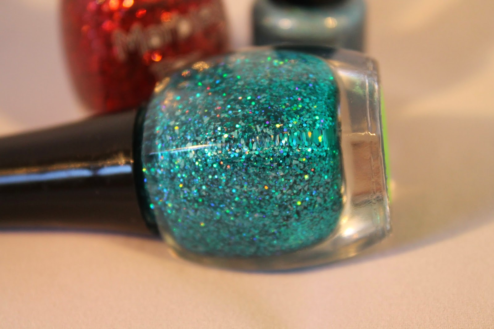 bottle shot glitter topper