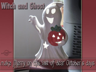 witch and ghost Halloween quote and sayings