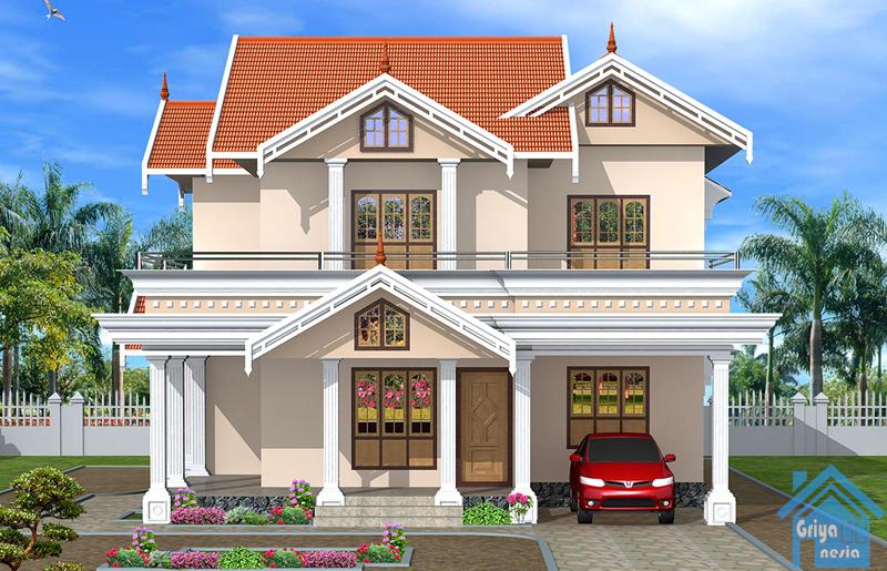 desain rumah dua lantai 250 m desain rumah griya indonesia