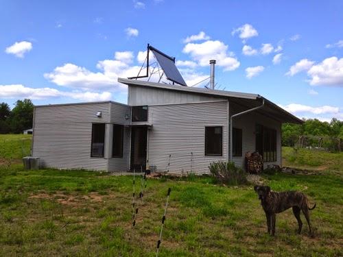 Off grid modern prefab house in testing the sendwine for Modern prefab homes mn