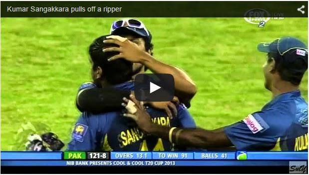 Kumar Sangakkara pulls off a ripper