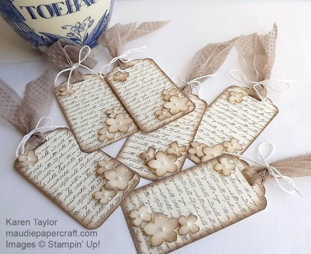 Stampin' Up! Vintage style gift tags