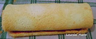 Massa de Pão de Ló super macio.