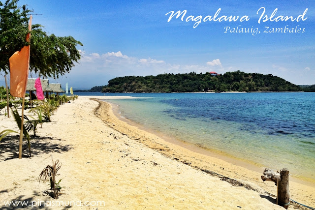 Beachfront of Magalawa Island