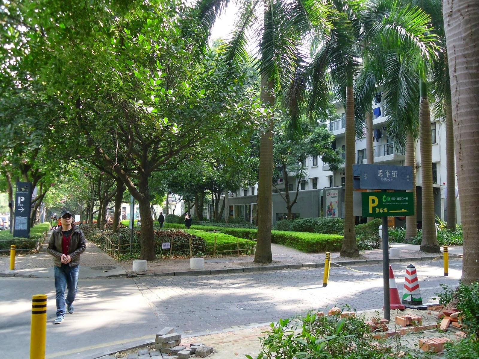 Ruas arborizadas na China