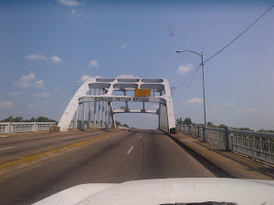 The Edmund Pettis Bridge in Selma, where fire hoses and dogs stopped the march in 1965