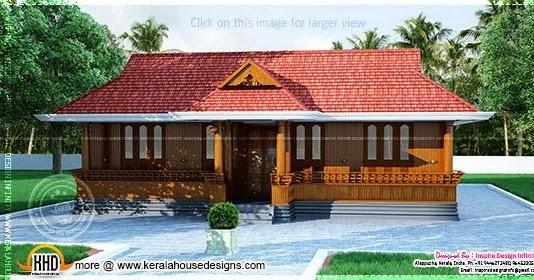 Home Front Elevation Pictures Nadu : Kerala nalukettu home plan design and floor