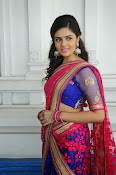 Sri Mukhi Gorgeous Half saree Photos-thumbnail-13