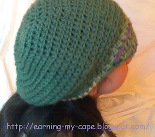 Free Crochet Pattern Slouchy Hat With Brim : Earning-My-Cape: Childs Slouchy Hat With Brim (free ...
