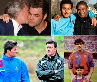 Ángel y Fonsi Nieto, Mazinho y Thiago, Michel y Adrián, Rafa y Miguel Ángel Nadal