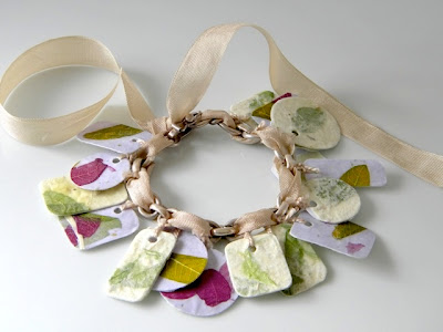 Mod Podge paper charm bracelet