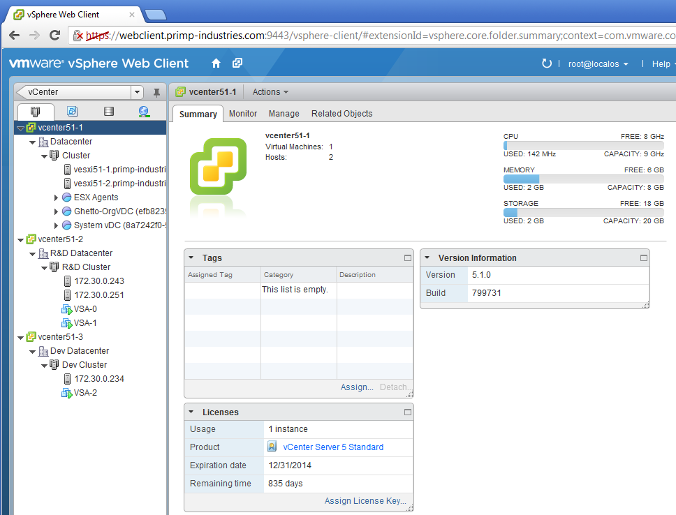 Configuring additional windows vsphere web client 5 1 for Consul server vs client