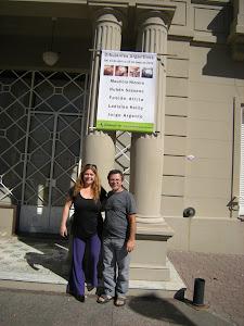 Celia Menoz y Ruben sassano en el MAPDA.