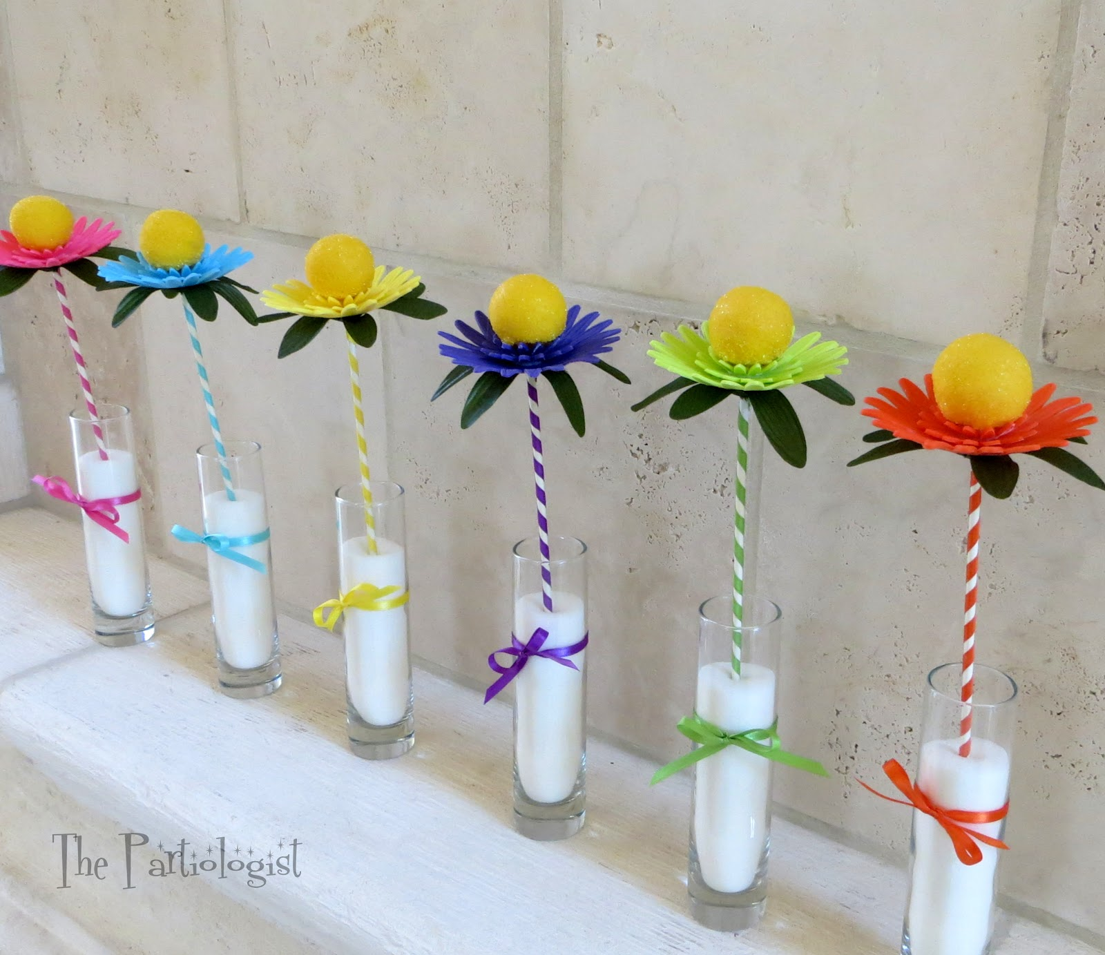 Ice Cream Stick Spiral Flower Vase