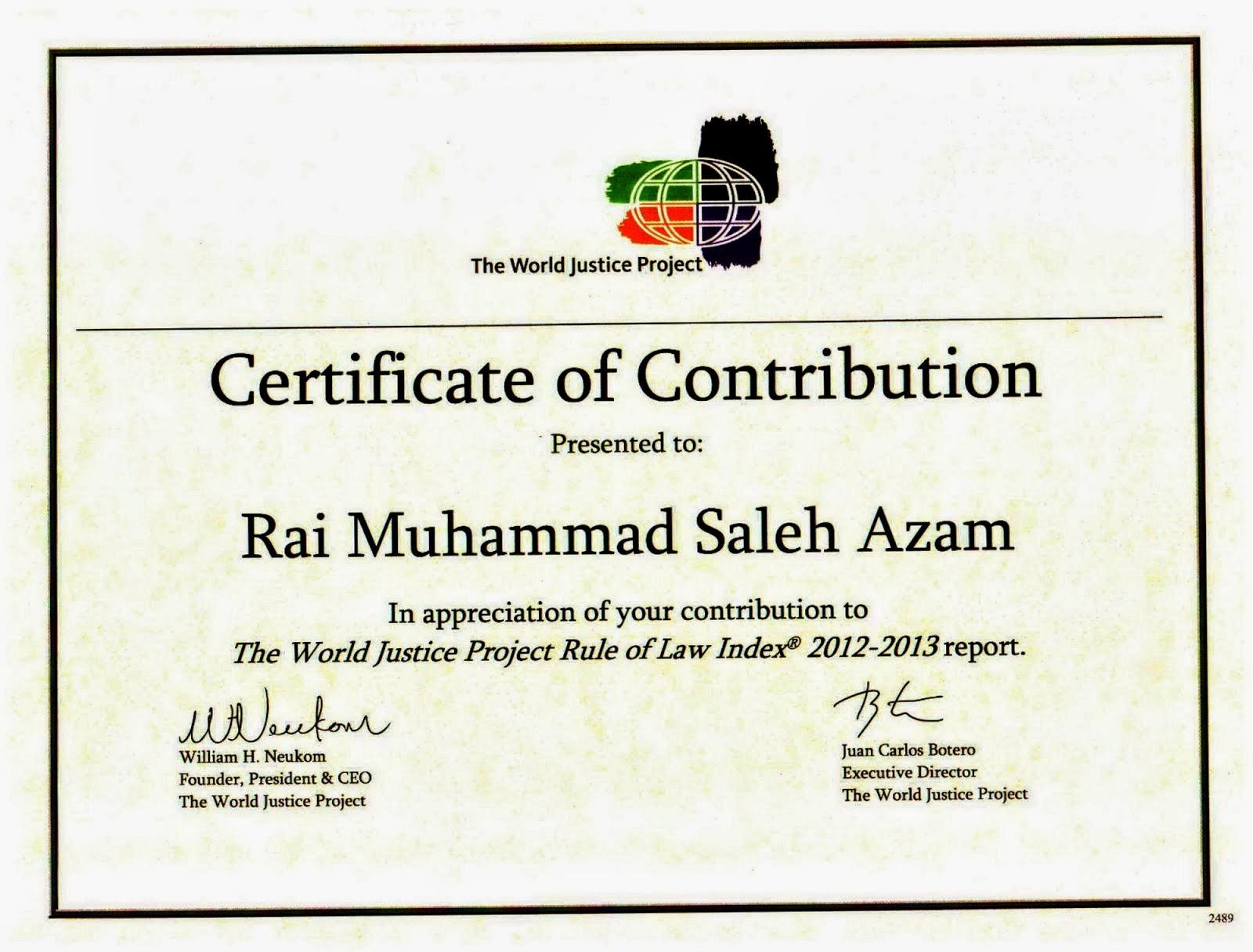 Project Certificate Template