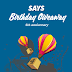 SAYS Birthday Giveaway 4th Anniversary Contest for YOU!