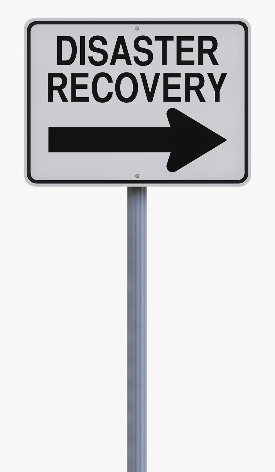 """Road sign that says """"Disaster Recovery"""""""