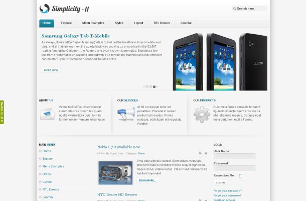 Iphone Mobiles Shop Free Joomla Theme Template